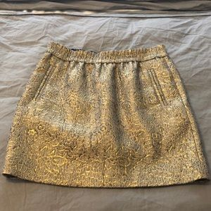 Skirt from Loft with intricate gold design